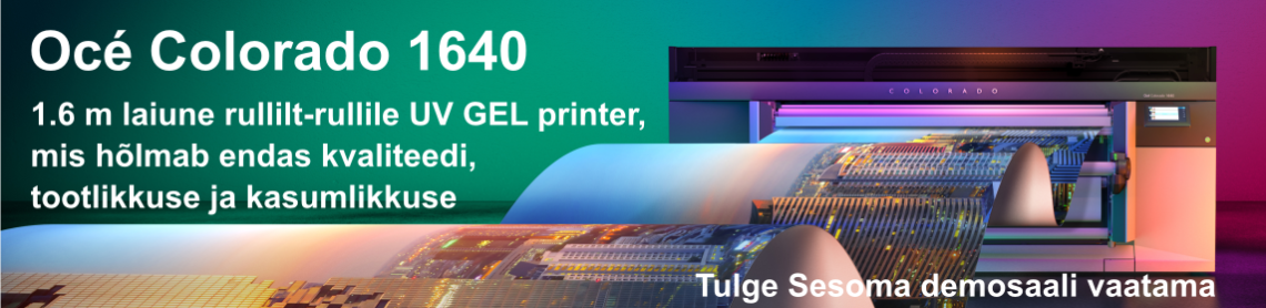 Rullilt Rullile OCE Canon LED UV-Gel printer